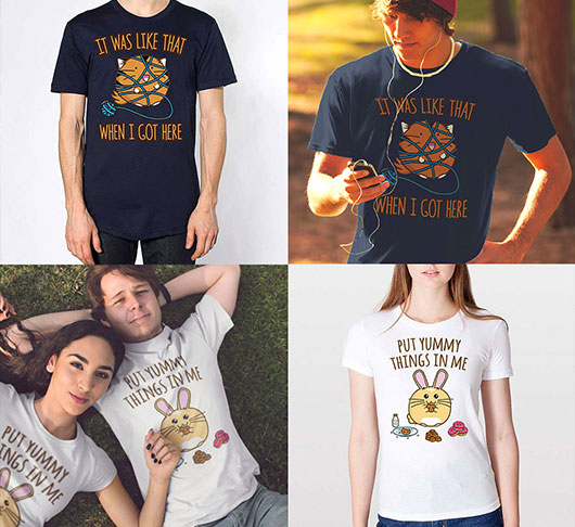 Get 20% Off Put Yummy Things In Me and It Was Like That When I Got Here Shirts