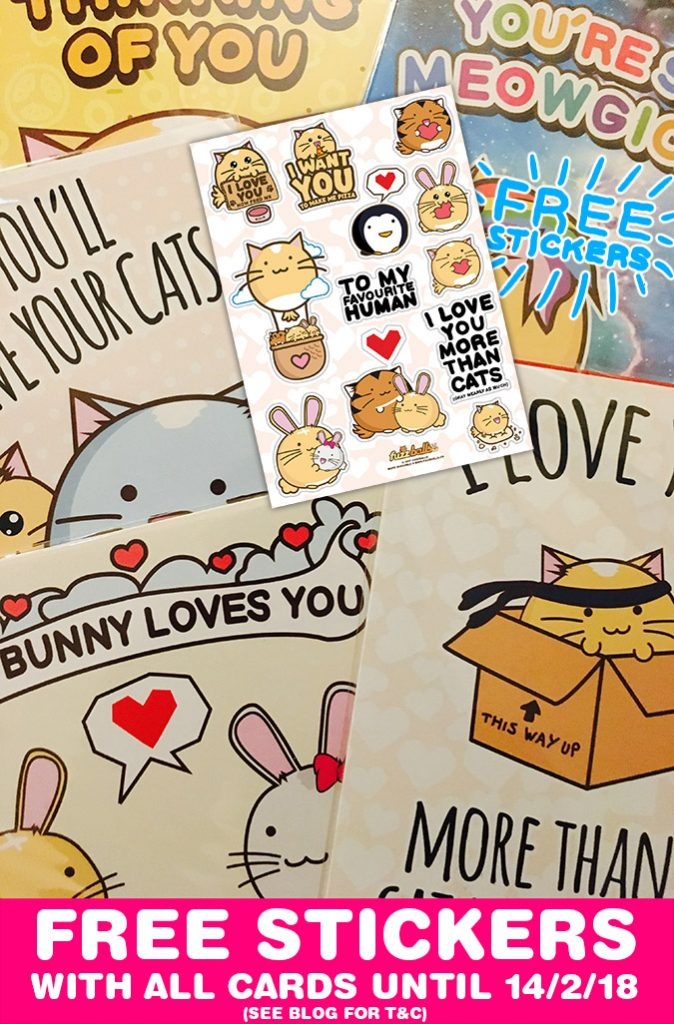 Free Stickers with all Greeting Cards