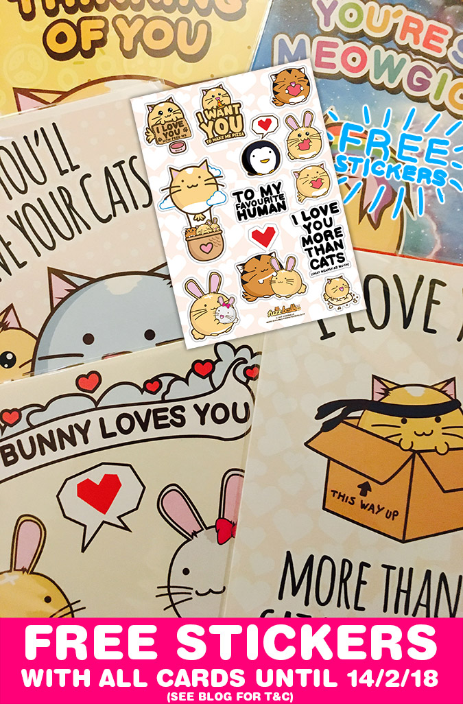 Free stickers with all greeting cards fuzzballs the official home were giving you a free set of stickers with all greetings card until 14218 just purchase a fuzzballs greeting card and well automatically include a m4hsunfo
