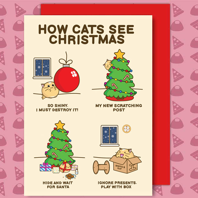 How Cats See Christmas Card