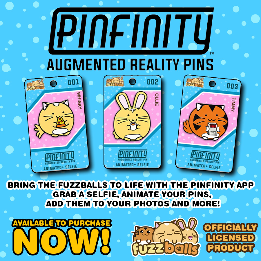 Pinfinity Fuzzballs Licensed Enamel Pins Launched!
